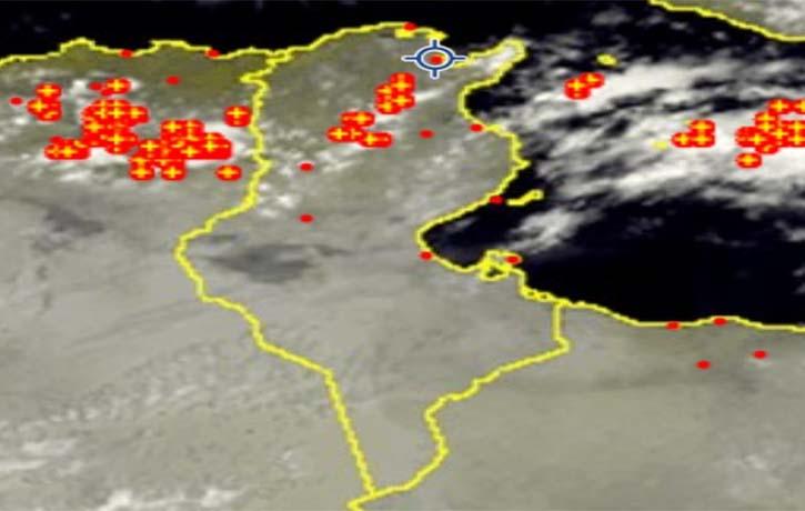 المعهد الوطني للرصد الجوي يحذر من وصول سحب رعدية نشيطة لتونس الكبرى